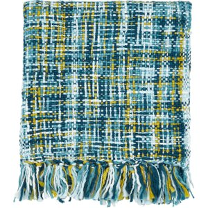 Scion Bedding Baja Knitted Throw, Teal , Teal