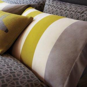 Scion Lace Stripe Oxford Pillowcase, Slate Furniture Accessories, Slate