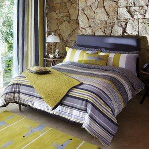 Scion Lace Stripe Super Kingsize Duvet Cover, Slate Furniture Accessories