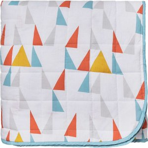 Scion Modul Quilted Throw, Tangerine Home Textiles, Tangerine
