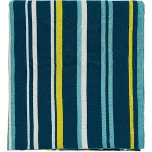 Scion Mr Fox Knitted Throw, Marine Blue Home Textiles, Blue
