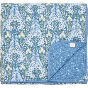V & A Alyssum Quilted Throw, Blue Home Textiles, Blue