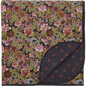 V & A Hawards Garden Quilted Throw, Aubergine Home Textiles, Aubergine