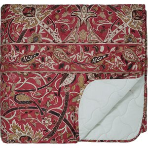 William Morris Bullerswood Quilted Throw, Paprika Home Textiles, Paprika
