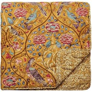 William Morris Seasons By May Quilted Throw, Saffron Qtosbmszsaf , Saffron