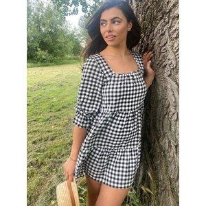 Boux Avenue                   Delilah Gingham Smock Dress - Black & White               - , Black & White