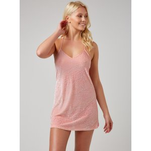 Boux Avenue Animal Textured Chemise - 12 Pink, Pink