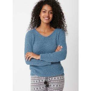 Boux Avenue Fluffy Knit Jumper - Steel Blue - 08, Steel Blue