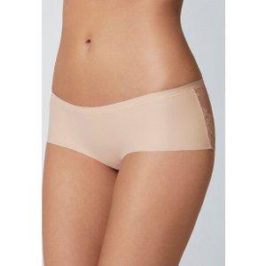 Boux Avenue Lace Back Shorts - Nude - 16, Nude