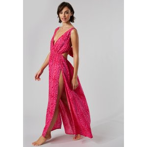Boux Avenue                   Zebra Beach Dress               - 10 Pink Mix, Pink Mix