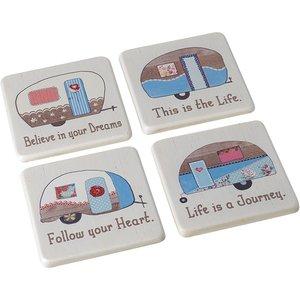 Caravan Coasters Set Of 4 By Heaven Sends An434260 Tables