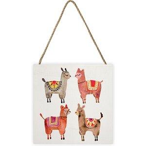 Cat Coquillette - Alpacas 20 X 20cm Wooden Wall Art An392189 Decorations