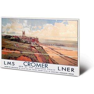 Cromer - Gem Of The Norfolk Coast By Walter Dexter 20 X 29.5cm Wooden Wall Art An398824 Decorations