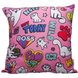 Pink Simon's Cat Pawsome Cushion With Insert An362169 Decorations