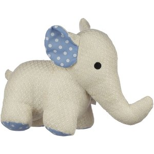 Polka Dot White Elephant Door Stop An450735 House Accessories