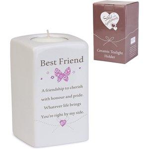Said With Sentiment Ceramic Tea Light Holders Best Friend An370817 Decorations