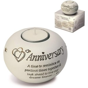 Said With Sentiment Tea Light Holders Anniversary An370654 Decorations