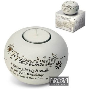 Said With Sentiment Tea Light Holders Friendship An370650 Decorations