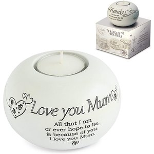 Said With Sentiment Tea Light Holders Love You Mum An370645 Decorations