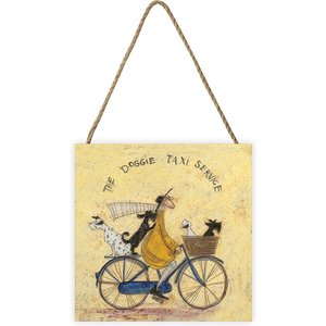 Sam Toft - The Doggie Taxi Service 20 X 20cm Wooden Wall Art An392162 Decorations