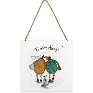Sam Toft - Together Always 20 X 20cm Wooden Wall Art An392280 Decorations