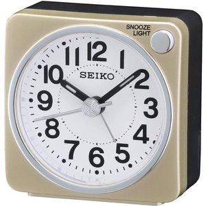 Seiko Qhe118g Bedside Alarm Clock Gold Gada1139 House Accessories