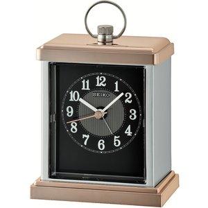 Seiko Qhe148a Mantel Alarm Clock - Rose Gold / Silver An363517 House Accessories