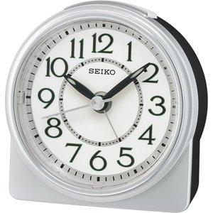 Seiko Qhe165s Analogue Beep Alarm Clock Silver Gada7040 House Accessories
