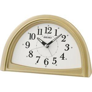 Seiko Qhe166g Analogue Beep Alarm Clock Gold Gada6122 House Accessories
