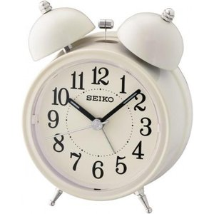 Seiko Qhk035c Bell Alarm Clock With Light And Snooze Cream Gada1603 House Accessories