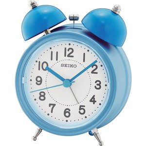 Seiko Qhk035l Bell Alarm Clock With Light And Snooze - Blue An363431 House Accessories