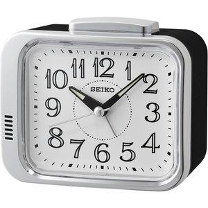 Seiko Qhk049s Bell Alarm Clock Black With White Dial Gada6117 House Accessories