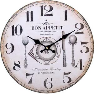 Shabby Chic Bon Appetit Wall Clock Gada5339 House Accessories