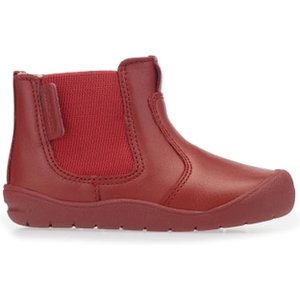 First Chelsea, Red Leather Zip-up First Walking Boots 0750 1 Childrens Footwear