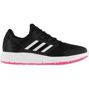 Adidas Galaxy 4 Ladies Trainers - Blk/wht/pink 4061616784834 Shoes, Blk/Wht/Pink
