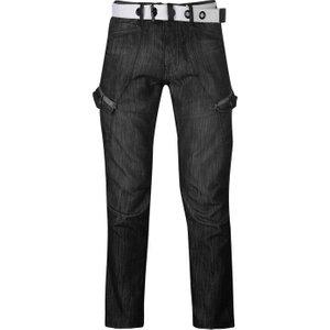 Airwalk Belted Cargo Jeans Mens - Black Ii 5059027597296 Mens Trousers, Black II