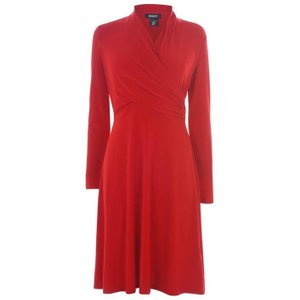 Dkny Occasion Wrap Dress - Red Dd9il293 Womens Dresses & Skirts, Red
