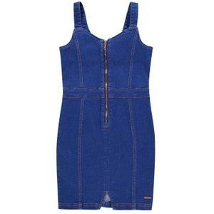Firetrap Denim Pinafore Dress Junior Girls - Bright Blue Fire K 376 Womens Clothing, Bright Blue
