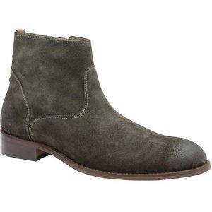 Frank Wright Hardin Chelsea Boots - Khaki Suede Mfw444 Shoes, Khaki Suede