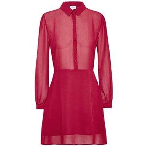 Jack Wills Barnham Shirt Dress - Berry 100014359004 Womens Dresses & Skirts, Berry