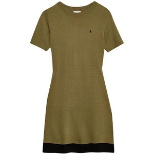 Jack Wills Baverstock Knitted Fit And Flare Dress - Olive 100014420013 Womens Dresses & Skirts, Olive