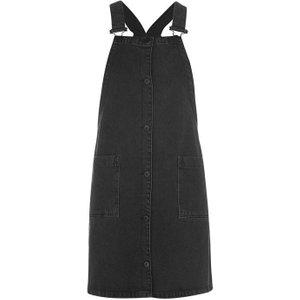 Jack Wills Eddie Denim Pinafore Dress Ladies - Black 100018645009 Womens Dresses & Skirts, Black