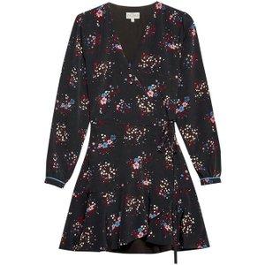 Jack Wills Hartland Print Wrap Dress - Black 100017776004 Womens Dresses & Skirts, Black