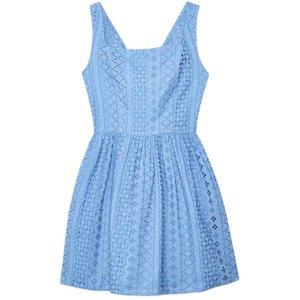 Jack Wills Lacey Fit And Flare Dress - Cornflower 100018801009 Womens Dresses & Skirts, Cornflower