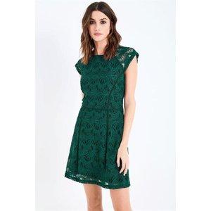 Jack Wills Truro Guipure Lace Dress - Emerald 100013975013 Womens Dresses & Skirts, Emerald