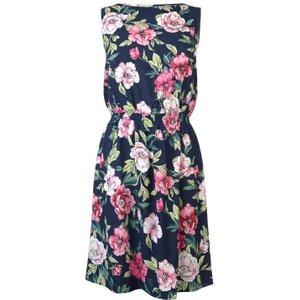 Jdy Smock Dress - Navy W/ Flower 15171511 Womens Dresses & Skirts, Navy w/ Flower