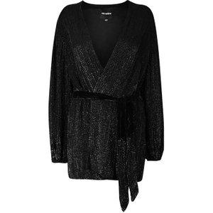 Retrofete Gabrielle Wrap Dress - Black Womens Dresses & Skirts, Black