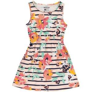 Soulcal Jersey Dress Junior Girls - Rust Floral Soulk1473 Womens Dresses & Skirts, Rust Floral