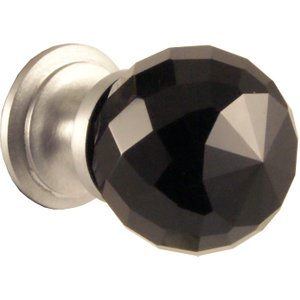 Jedo Black Faceted Glass Cabinet Knobs JH1257 40SC, Black