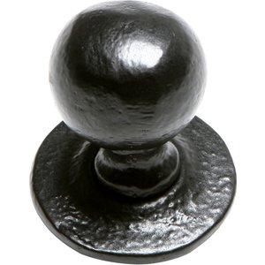 Kirkpatrick Black Smooth Iron Cabinet Knob 1949